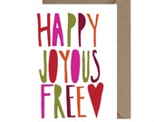 Happy Joyous And Free Recovery Encouragement Card Sobriety Birthday Anniversary AA 12 Step Gift