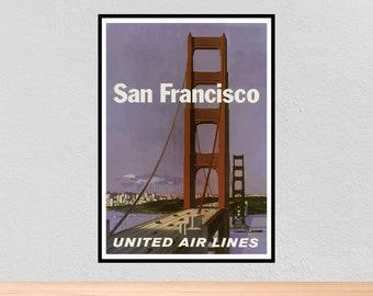 San francisco bridge A3 vintage retro travel /& railways posters print #3