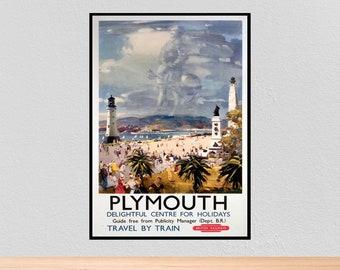 Vintage British Rail Plymouth Mayflower Railway Poster A4//A3//A2//A1 Print