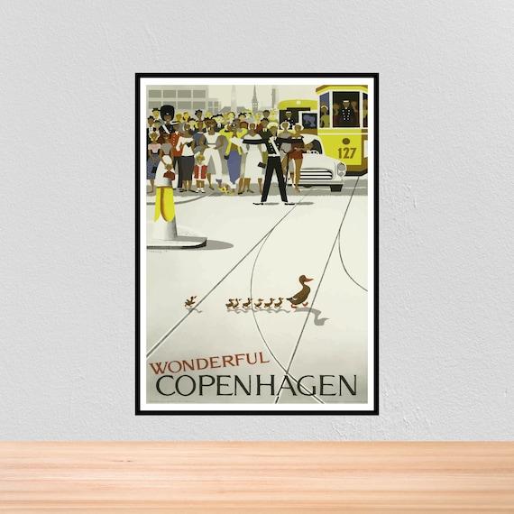 CD02 VINTAGE COPENHAGEN DENMARK TRAVEL A3 POSTER PRINT