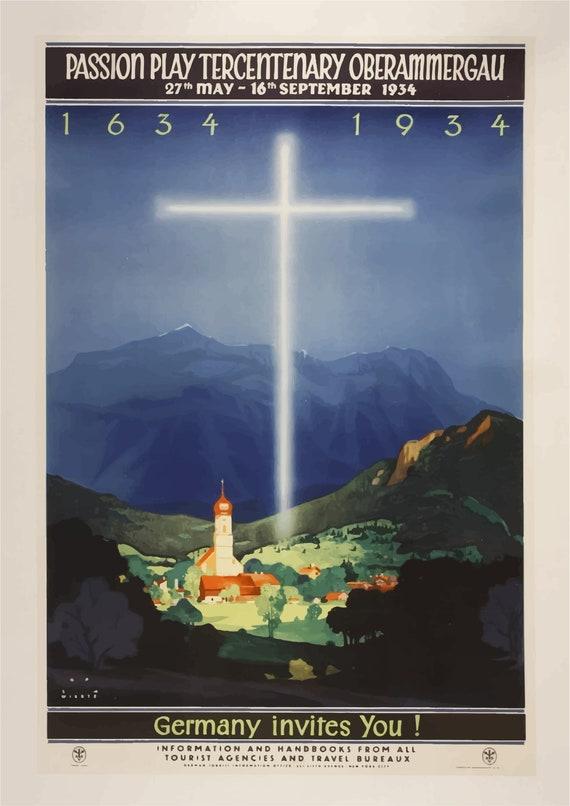Vintage Cologne Germany Tourism Poster A3//A4 Print