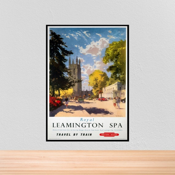 Vintage British Rail Leamington Spa Railway Poster A3//A2//A1 Print