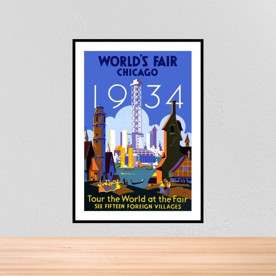 Chicago 0019 Vintage Travel Art Poster