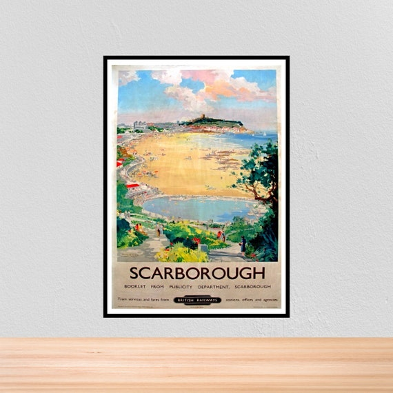 075 Vintage Railway Art Poster Scarborough North Yorkshire