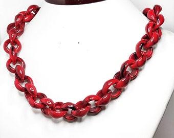 shirt  Chain Statement Necklace  Chunky Knit Boho Necklace   T