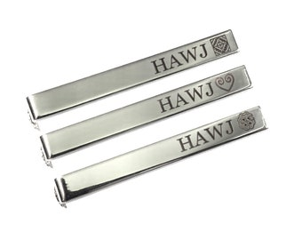 Personalized Gold color hmong Tie clip tie bar for standard size tie