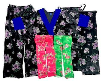 Size 42 - Pants Outfit - 6 piece includes: Shirt, 2 apron, 2 sash, pants - Panda hmong traditional outfit hmong pants outfit