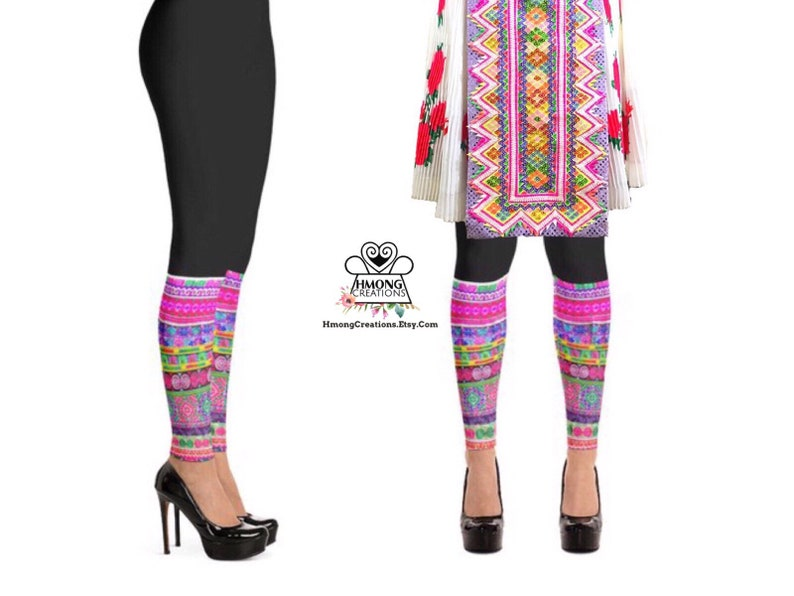 Hmong Leggings  Adult  PRINTED  Polyester  Spandex  Hmong image 0