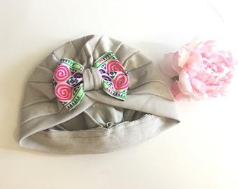 ADULT Hmong turban hat grey
