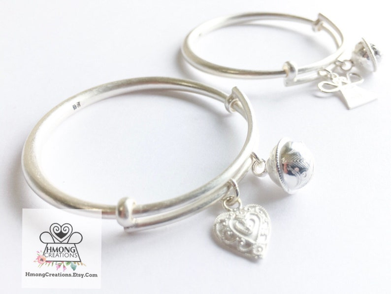 Baby Bracelet  Real Silver  up to 4 yrs old  Beautiful image 0