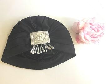 ADULT Hmong turban hat black