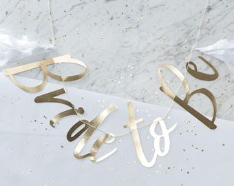Hen Party Gold Foiled Bride To Be Bunting - I Do Crew Hen/Bachelorette