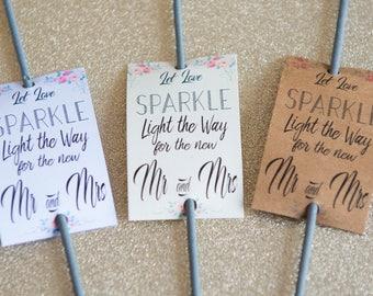 20 x Let Love Sparkle - Wedding Sparkler Tags - General