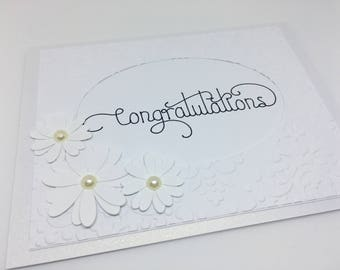 Congratulations Card, All White