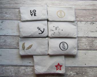 Filzmäppchen, Filztäschchen in weiß diverse Designs von Frollein KarLa