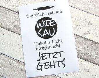 """Bild, Poster, Typographie, Druck, Kunstdruck """"Wie Sau"""" von Frollein KarLa"""