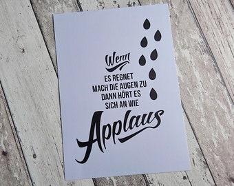 """Bild, Poster, Typographie, Druck, Kunstdruck """"Applaus"""" von Frollein KarLa"""