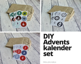 DIY Advent Calendar, Numbers + Bags