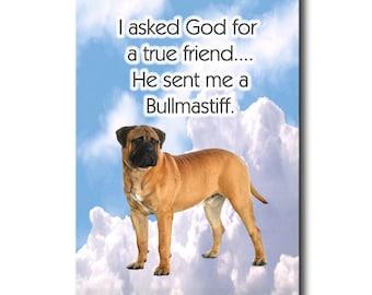 Bullmastiff a House is Not a Home Fridge Magnet No 2