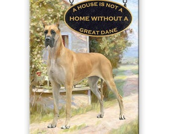 GREAT DANE House Is Not A Home FRIDGE MAGNET No 1 BLUE