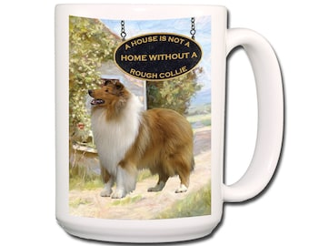 Rough Collie Cup Etsy