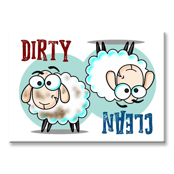 SHEEP Clean Dirty Dishwasher Magnet Piggy