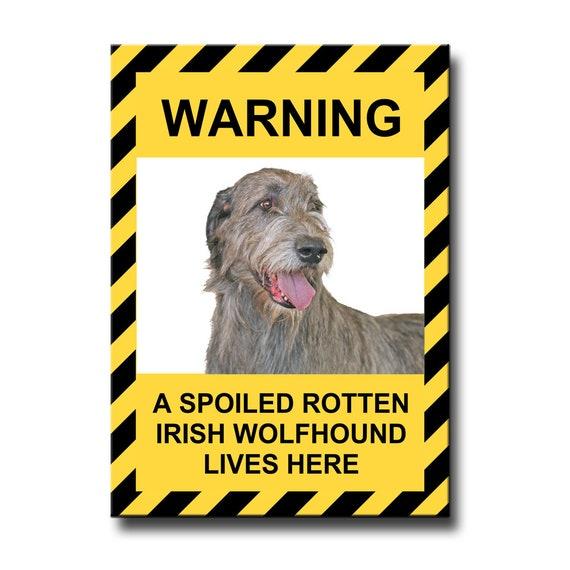 Irish Wolfhound Spoiled Rotten Fridge Magnet