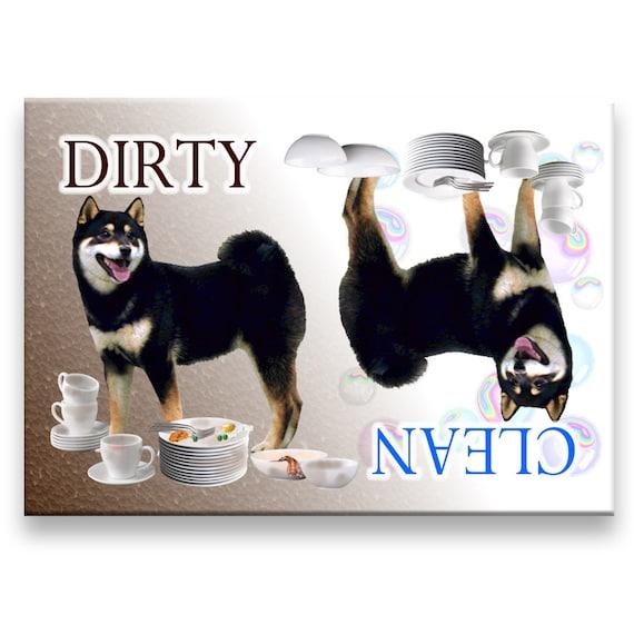 Shiba Inu Clean Dirty Dishwasher Magnet No 2
