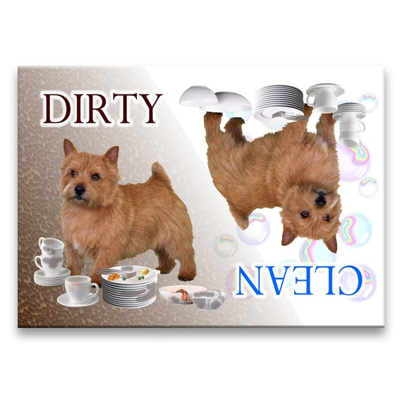Norwich Terrier Clean Dirty Dishwasher Magnet