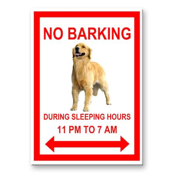Golden Retriever No Barking Fridge Magnet
