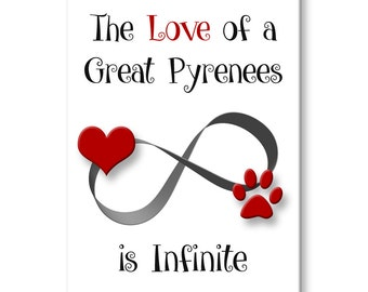 Great Pyrenees Infinite Love Fridge Magnet