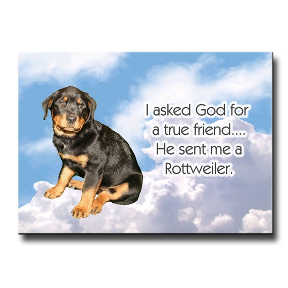 Rottweiler True Friend Fridge Magnet No 1