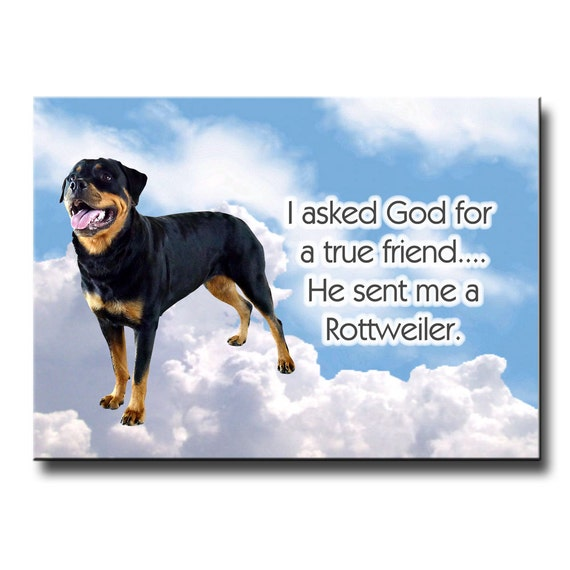 Rottweiler True Friend Fridge Magnet No 2