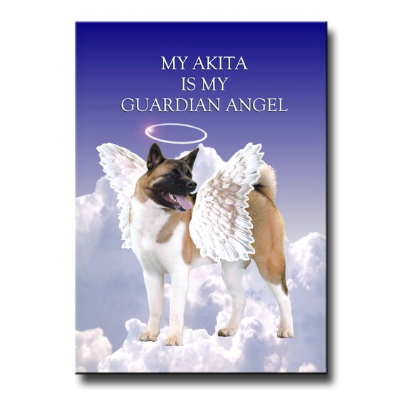 Akita Guardian Angel Fridge Magnet