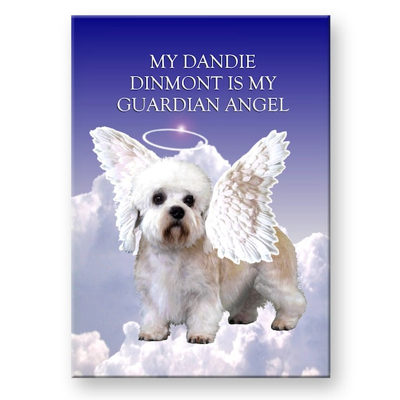 Dandie Dinmont Guardian Angel Fridge Magnet