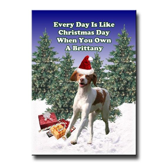Brittany Christmas Holidays Fridge Magnet