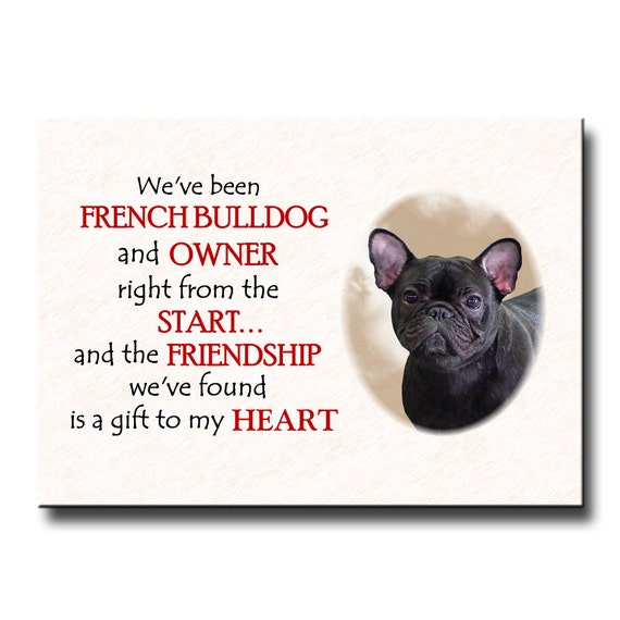 French Bulldog Friendship Fridge Magnet No 4