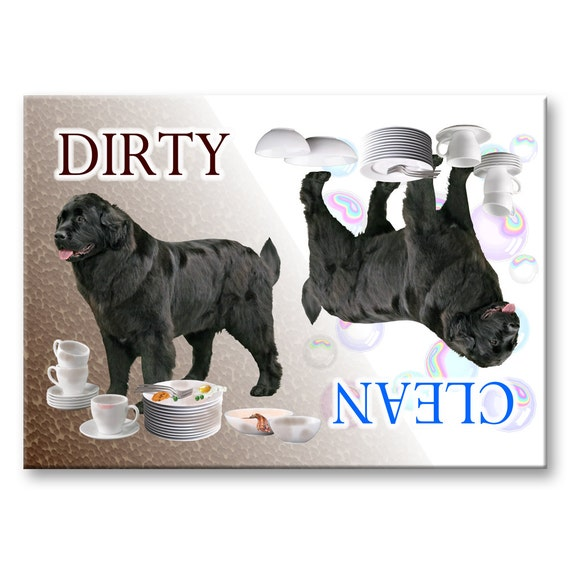 MASTIFF Clean Dirty Dishwasher MAGNET New DOG