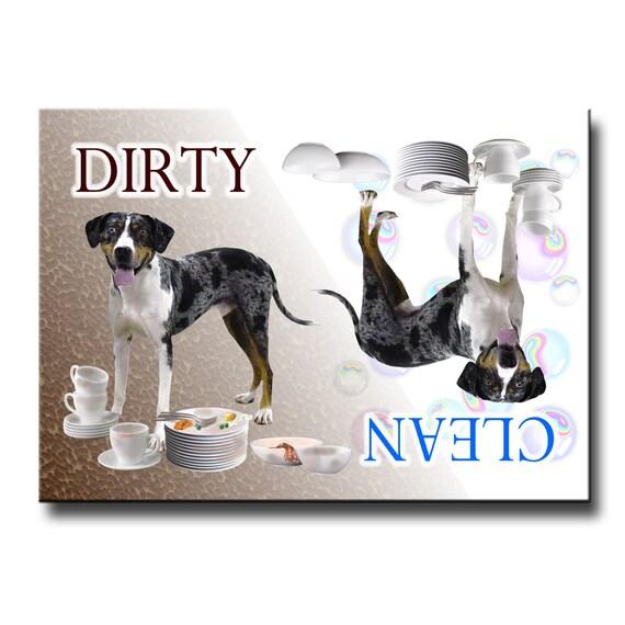 Catahoula Leopard Dog Clean Dirty Dishwasher Magnet