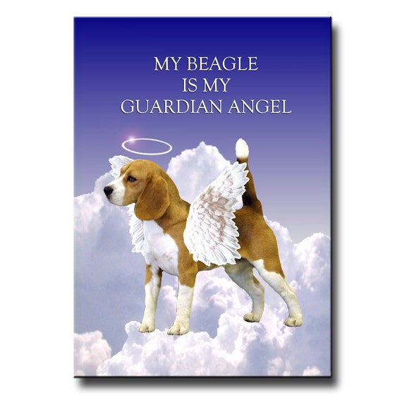 Beagle Guardian Angel Fridge Magnet