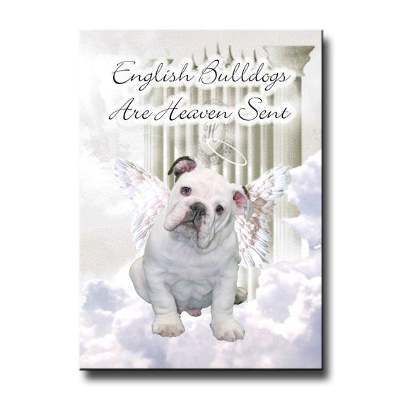 English Bulldog Heaven Sent Fridge Magnet No 3
