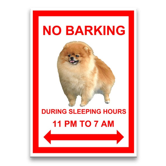 Pomeranian No Barking Fridge Magnet