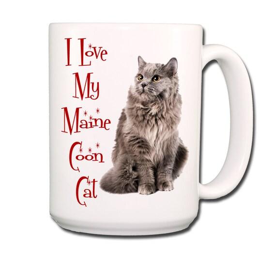Maine Coon Cat I Love My Cat Large 15 oz Coffee Mug No 5
