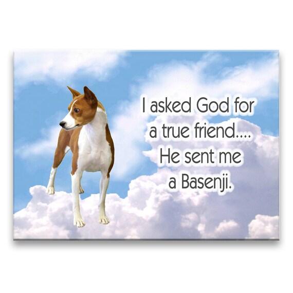 Basenji True Friend Fridge Magnet No 1