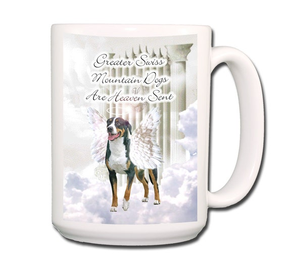 Greater Swiss Mountain Dog Heaven Sent Large 15 oz Coffee Mug