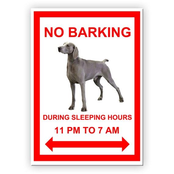Weimaraner No Barking Fridge Magnet