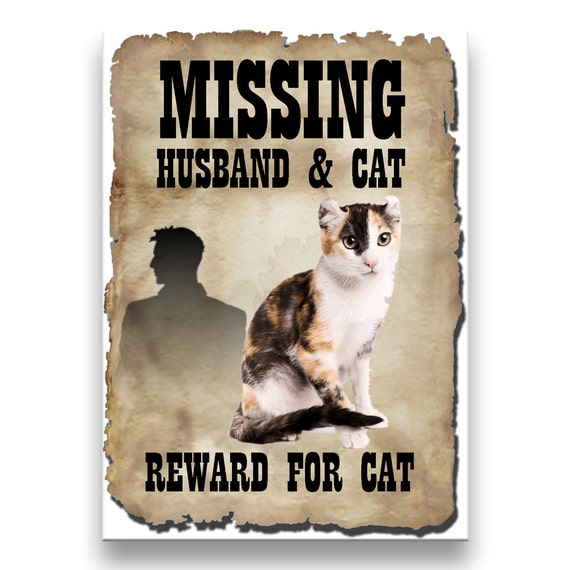 American Curl Cat Husband Missing Reward Fridge Magnet No 1