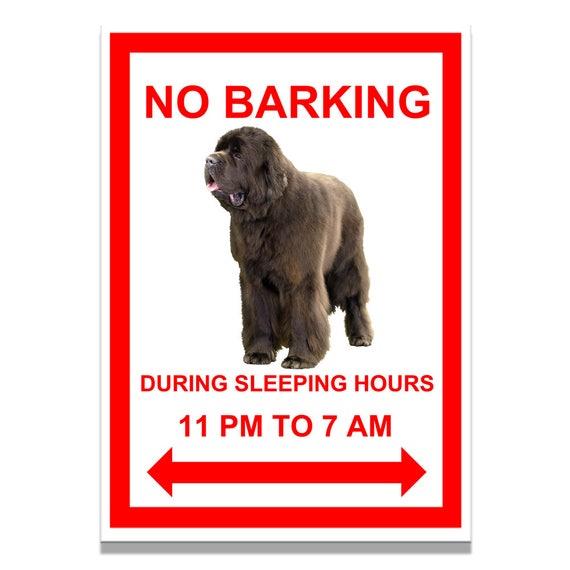 Newfoundland No Barking Fridge Magnet No 1 Brown