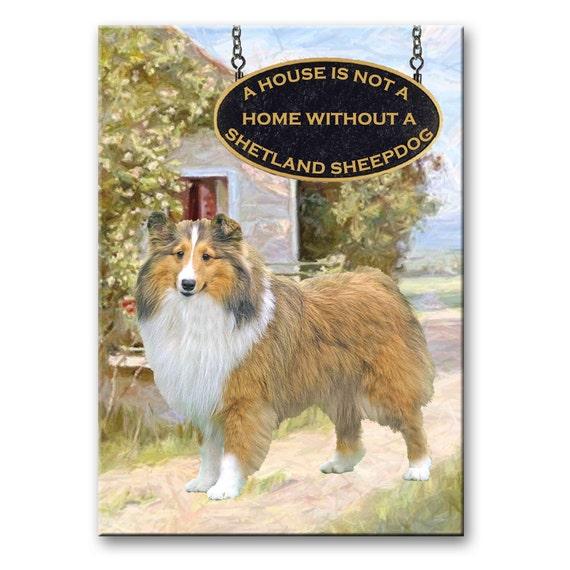 Shetland Sheepdog a House is Not a Home Fridge Magnet No 1