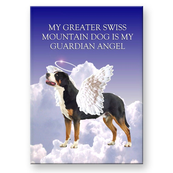 Greater Swiss Mountain Dog Guardian Angel Fridge Magnet